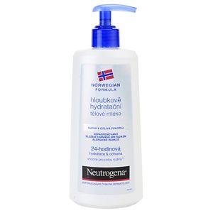 Neutrogena Norwegian Formula® Deep Moisture hĺbkovo hydratačné telové mlieko pre suchú a citlivú pokožku 250 ml
