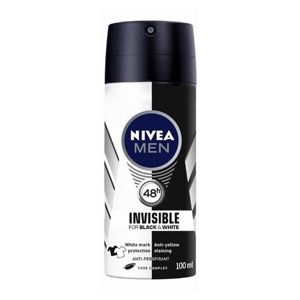 Nivea Men Invisible Black & White antiperspirant v spreji pre mužov 100 ml