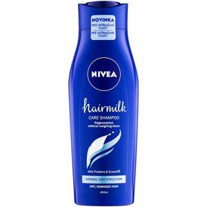 Nivea Hairmilk ošetrujúci šampón pre normálne vlasy 400 ml