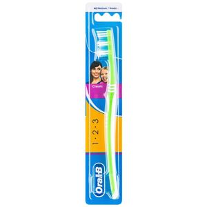 Oral B 1-2-3 Classic Care zubná kefka medium Green
