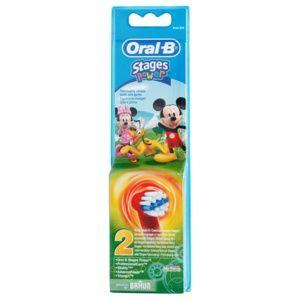 Oral B Stages Power EB10 Mickey Mouse náhradné hlavice na zubnú kefku extra soft 2 ks