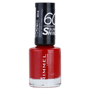 Rimmel 60 Seconds Super Shine lak na nechty odtieň 310 Double Decker Red 8 ml