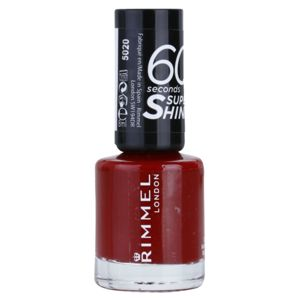 Rimmel 60 Seconds Super Shine lak na nechty odtieň 320 Rapid Ruby 8 ml