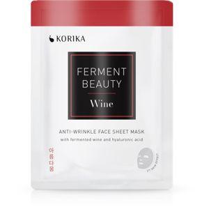KORIKA FermentBeauty plátenná maska proti vráskam s fermentovaným hroznom a kyselinou hyalurónovou 20 g