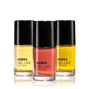 NOBEA Colourful sada lakov na nechty odtieň Sunflower Field 3 x 6 ml