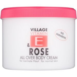 Village Vitamin E Rose telový krém bez parabénov 500 ml